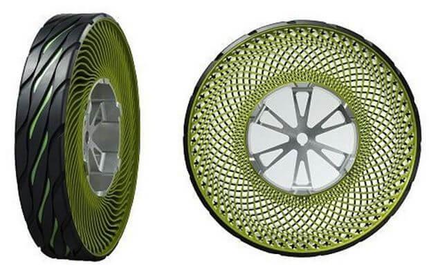 Безвоздушные колеса Bridgestone отToyota