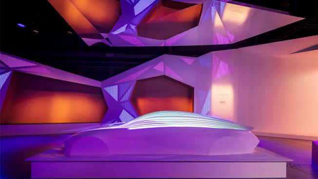 Тизерное изображение концепта Hyundai EV для автосалона во Франкфурте